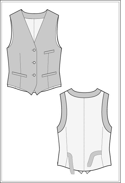 This Waistcoat sewing pattern is perfect for weddings and casual wear - download it for free now.