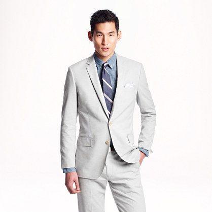 J B Ludlow in Italian oxford cloth - lightweight suiting - Men's Ludlow Shop - J ...