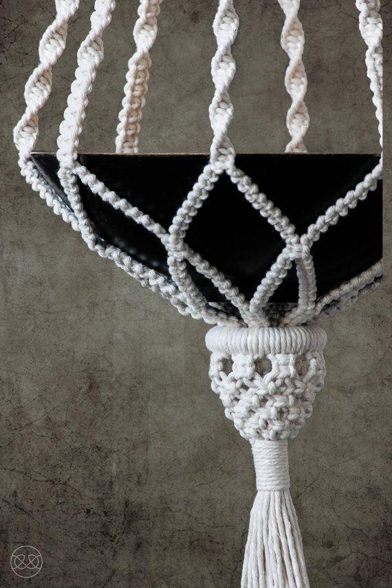 cotton macrame plant hanger ORIENT – #Cotton #hang…