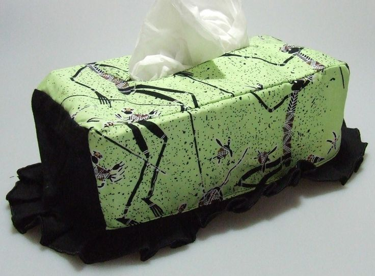 Tissue Box Cover Design: My Mother's Country (Green) Artist: Wiggii - Roper River NT Code: HOME-TBC-MMCG Price: $18.00