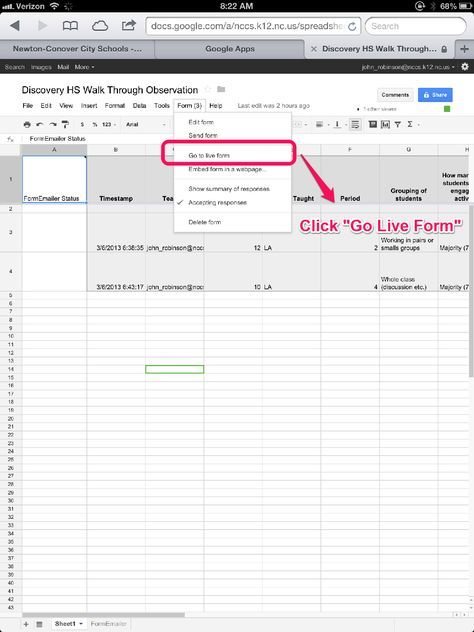 - From the Principals Office: Using Google Forms to Create a Walkthrough-Observation App for the iPad