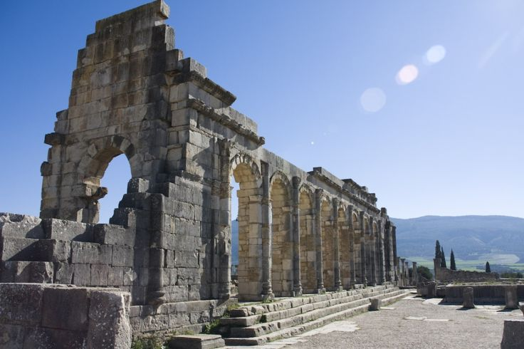 Volubilis, Morocco The Romans sure got around, leaving behind their characteristic triumphal arches and columned temples in unlikely places -- such as a few dozen kilometers outside of Meknes, Morocco. Photo: ollografik