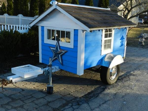 micro travel trailer cottage 001   $695 for a Handmade Micro Travel Trailer (For Sale)