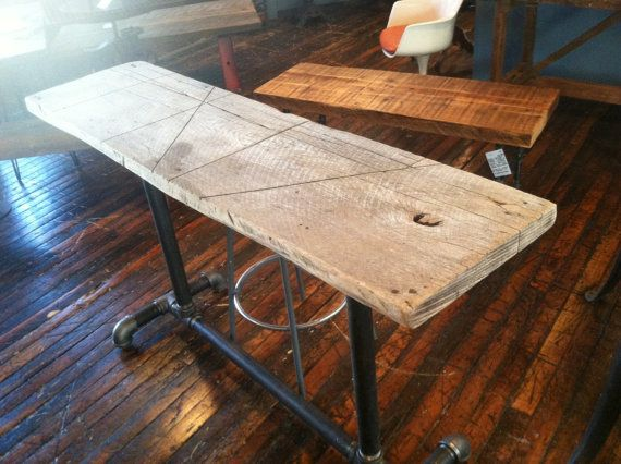 Counter Height Reclaimed Wood Table : ... antique industrial factory table product categories tables furniture