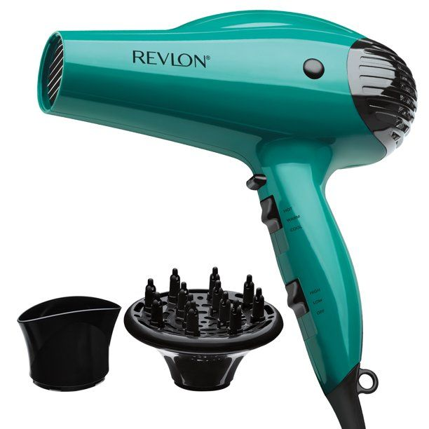 Revlon Essentials Volume Booster Hair Dryer Teal With Concentrator And Diffuser Walmart Com In 2020 Hair Dryer Revlon Hair Dryer Hair Dryer Diffuser