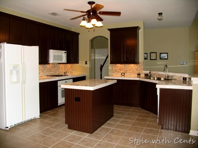 750 Total Kitchen Remodel Sherwin Williams Turkish Coffee Bead Board Cabinets 2 From Similar Cabinetry