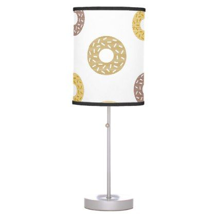 Donuts pattern - brown and beige. table lamp - home gifts ideas decor special unique custom individual customized individualized