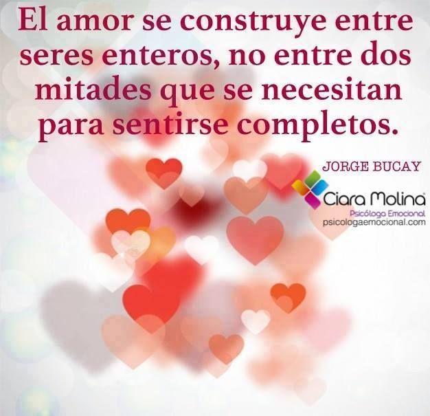 El amor se construye entre seres enteros