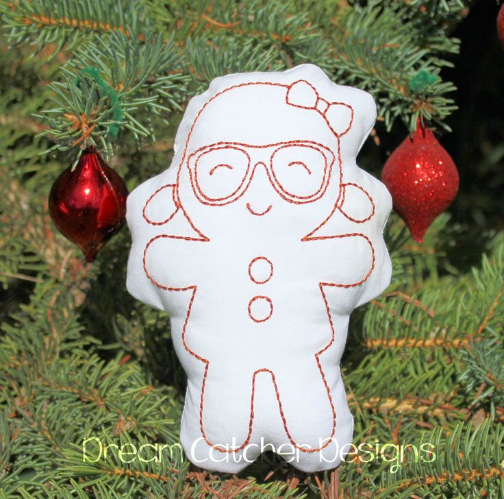 Geeky Gingerbread Girl Doodle It 5x7 (3)