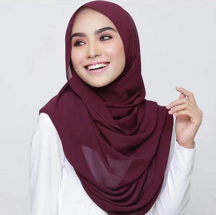 Bubble Chiffon Solid Hijab //Price: $9.95 & FREE Shipping //     #hashtag2