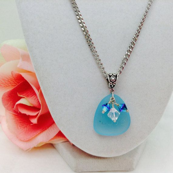Check out this item in my Etsy shop https://www.etsy.com/listing/241525747/sea-glass-necklace-swarovski-necklace