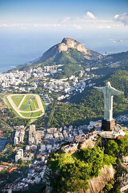 Christ the Redeemer blessing the city, Rio de Janeiro, Brazil (by Xavier Donat).