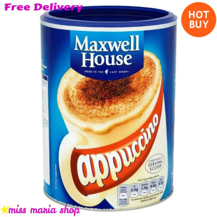 Instant Cappuccino Tins 6x750 Coffee Drink Bulk Buy 264 Servings Maxwell House