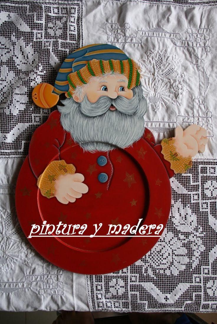 Porta plato Papá Noel