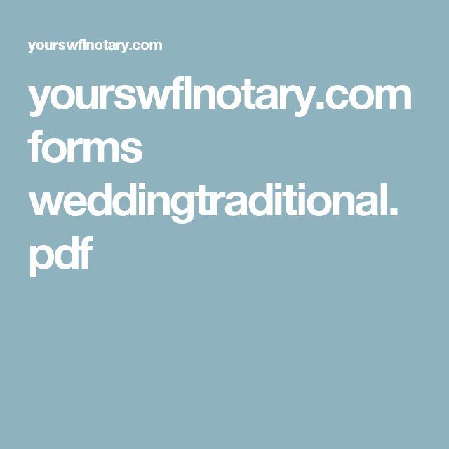 yourswflnotary.com forms weddingtraditional.pdf