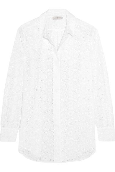 Tory Burch - Broderie Anglaise Cotton Shirt - White -