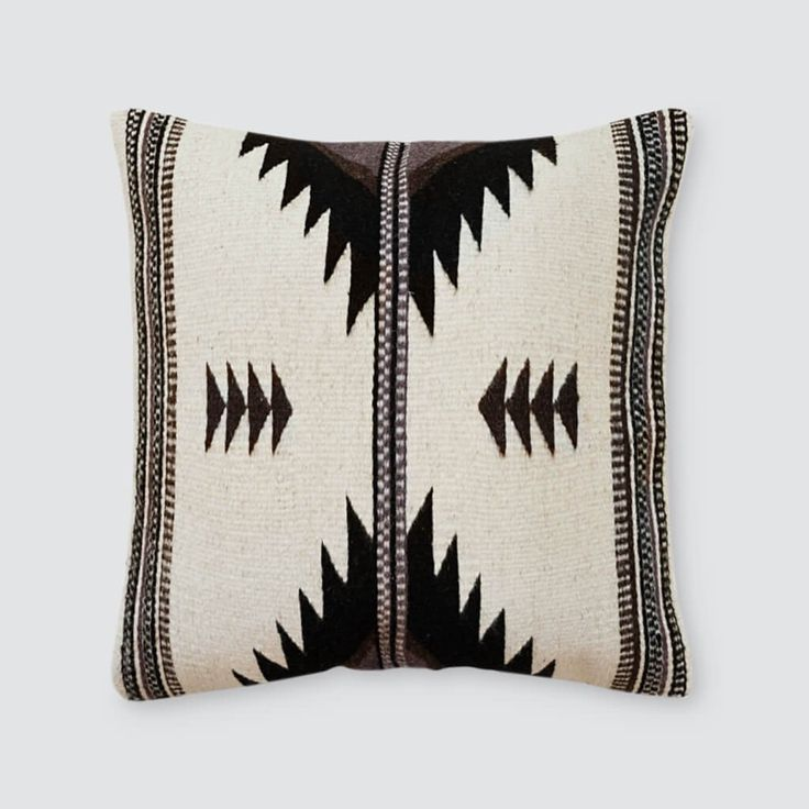 Aztec Throw Pillows in Black and White   – The Citizenry