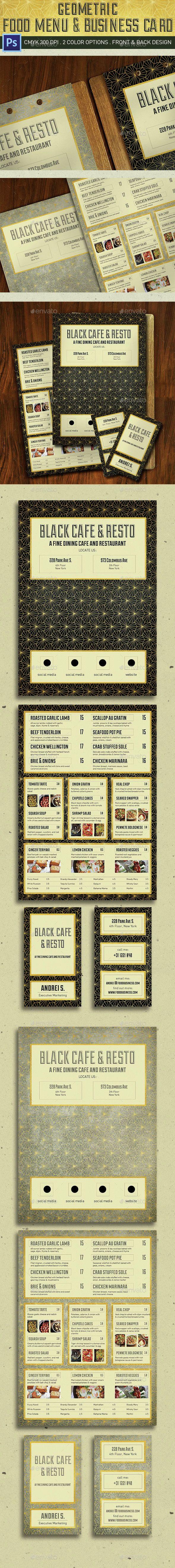 Geometric Food Menu Template PSD. Download here: http://graphicriver.net/item/geometric-food-menu/14937003?ref=ksioks
