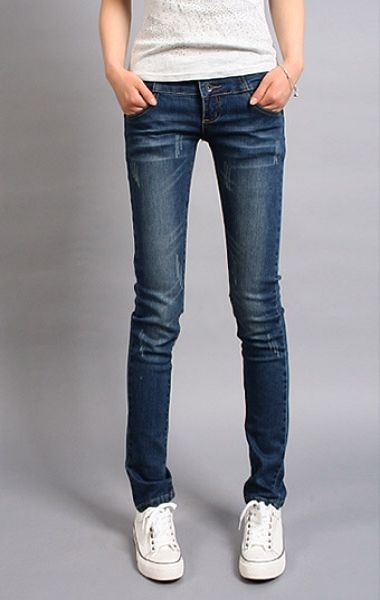Korean Casual Pants Pencil Pants Jeans Feet