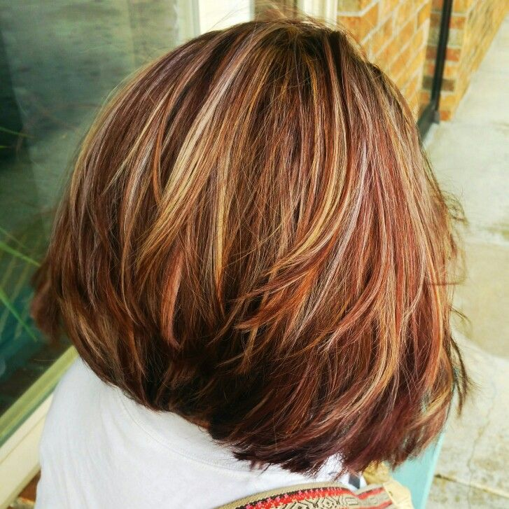Bob Haircut Autumn Leaves Woody Hues Copper Blonde And