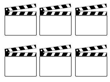 These are blank clapboard pieces that can be customized for your Hollywood/Movie themed classroom.  I have included the blank clapboards, clapboards with Hollywood/Movie themed clipart, clapboards with birthday clipart, and clapboards with bus/kids with backpack clipart.