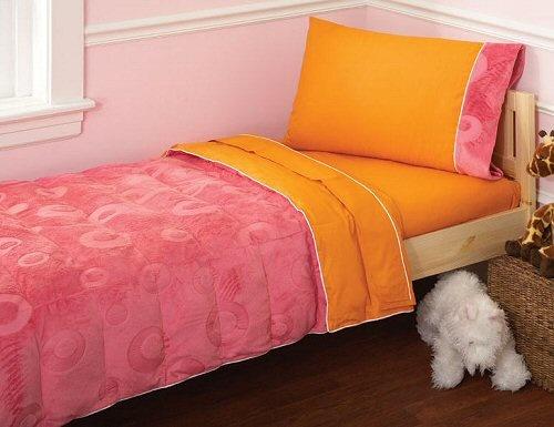 70 Pink Amp Orange Toddler Girl Bedding 4pc Bed In A Bag