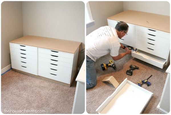 The house of smiths home diy blog interior decorating for Ikea drawers office
