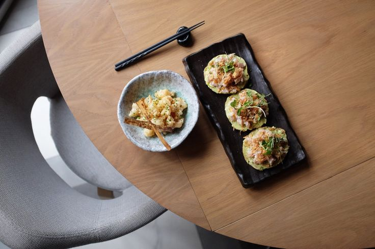 Rock shrimp tempura and Haidacore tuna tartare start off the lunch at Kasamoto.