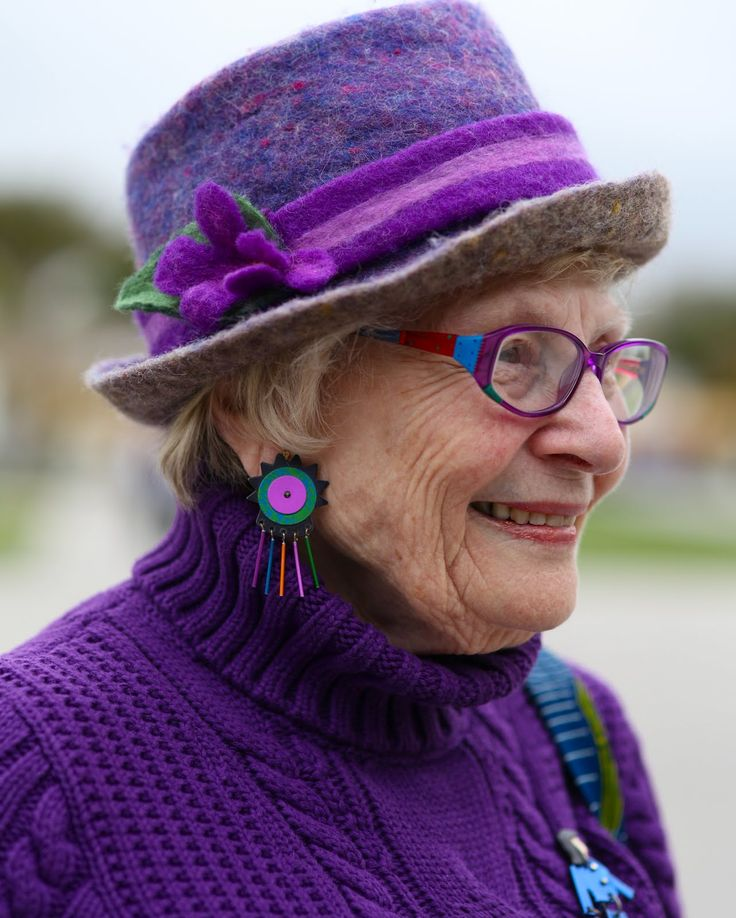 """Older people are often made to feel invisible in our society. I love when older women wear color because it is a way of communicating their visibility in the world. As they have gotten older their message has changed. They are no longer saying """"Look At Me"""", but rather """"I Am Here""""."""