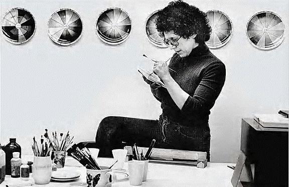 Feminist Artist Judy Chicago in 1974:    born Judith Sylvia Cohen in Chicago, 1939
