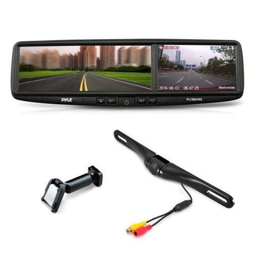 HD Vehicle Backup Camera System - DVR Dual Camera Rearview Mirror Video Recording, Waterproof Night Vision Cam, 1080p