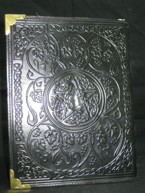 Large Fat Book of Shadow Leather Diary Journal Wicca - Pagan Deckle Papers Gift