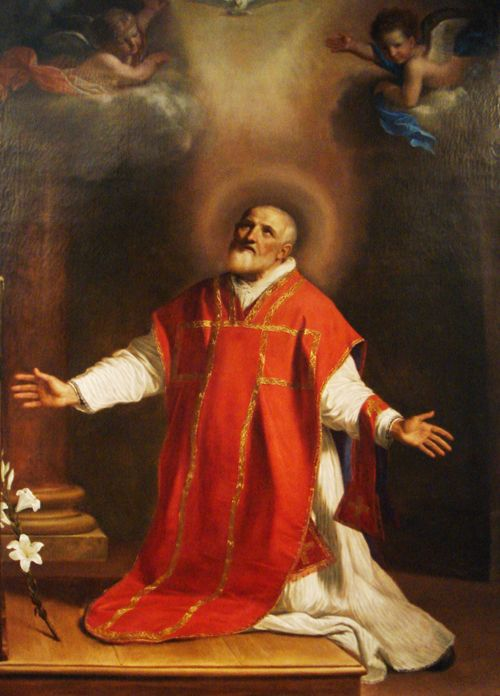 """St. Philip Neri: The Patron Saint of Catholic Extension. It is said that Philip Neri wanted to be a foreign missionary, but a holy man interfered by telling him: """"Your India shall be Rome."""" Bishop Francis Clement Kelley, the founder of Catholic Extension, saw the application of those words in his own work. He decided that Philip would be our patron, and Pope St. Pius X so named him. Read an article we published in May of 1958 highlighting our patron saint's sense of humor."""