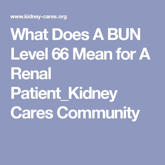 What Does A BUN Level 66 Mean for A Renal Patient_Kidney Cares Community
