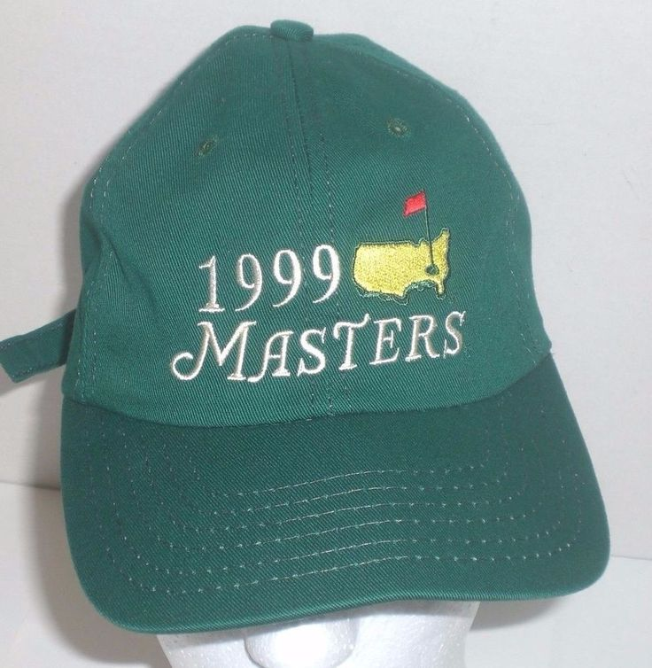 Official Masters Golf Hat 1999 Green Baseball Cap American Tournament Adjustable #Masters #BaseballCap #golf #cap