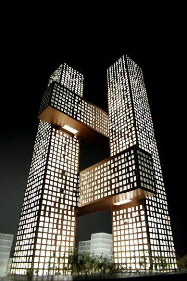Cross # Towers, Seoul, Korea by Bjarke Ingels Group (BIG)