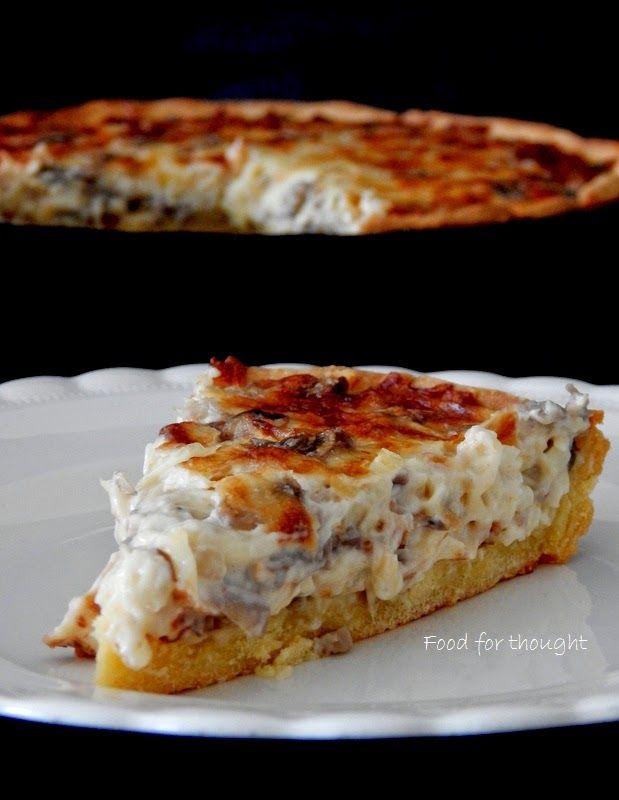 Food for thought: Τάρτα με μανιτάρια, ρεγκάτο και ζύμη καλαμποκιού