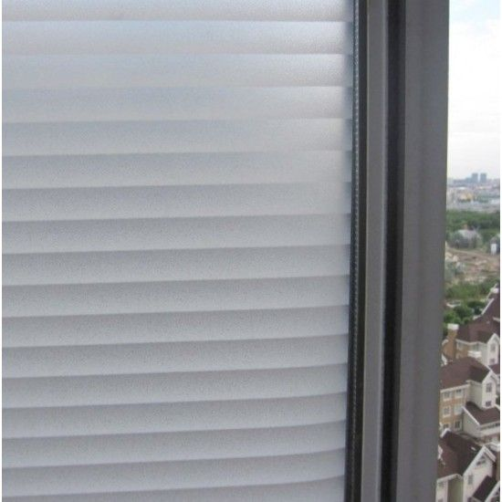"""35"""" Window-blinds look Decorative Window Film - Self Adhesive Frosted Privacy Window Stickers"""
