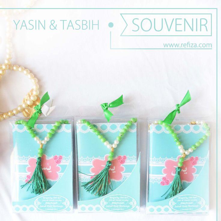 Paket souvenir Yasin & Tasbih cantik berbagai macam pilihan. Yukk buruan order sekarang, untuk info lebih lanjut bisa hubungi customer service kami.