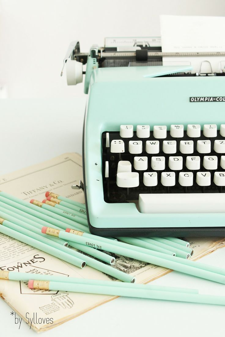 Make a statement with a vintage typewriter. #WorkMastered