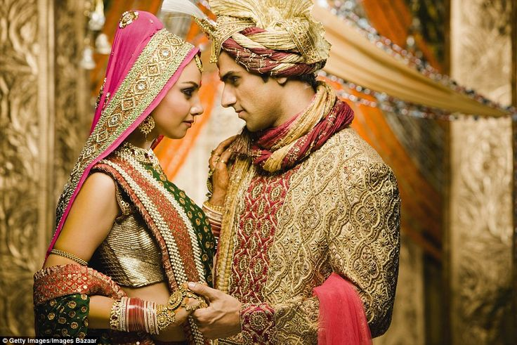 India has many different bridal traditions, but often pink or red wedding dresses are the item of choice.