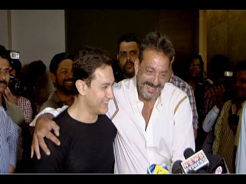 Sanjay Dutt at the special screening of the movie PEEKAY hosted by Aamir Khan.