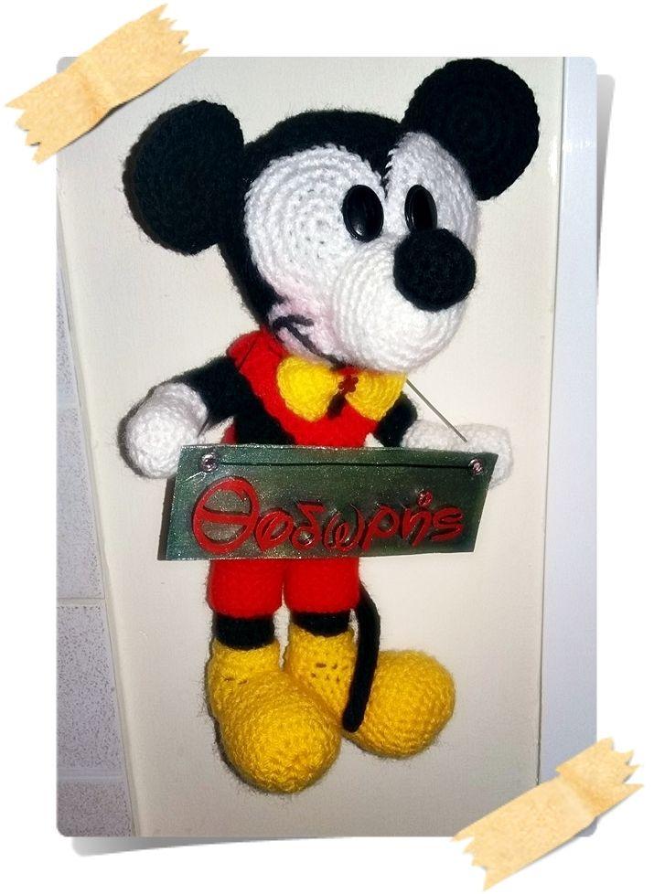 crochet mickey mouse stuffed doll
