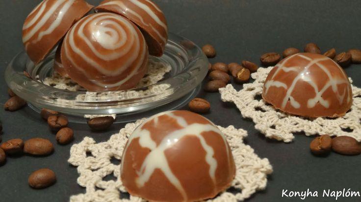 Konyha Naplóm: Vaníliakávékrém csokoládéba zárva