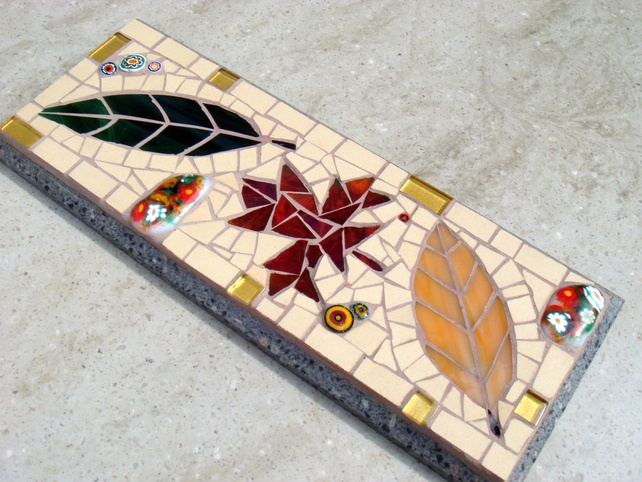 Mosaic Wall Plaque Autumn Leaves £33.00
