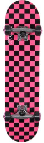 Special Offers - Speed Demons Checkerboard PP Full Complete Skateboard (Black/Hot Pink 7.5-Inch) - In stock & Free Shipping. You can save more money! Check It (May 06 2016 at 09:41AM) >> http://kidsscooterusa.net/speed-demons-checkerboard-pp-full-complete-skateboard-blackhot-pink-7-5-inch/