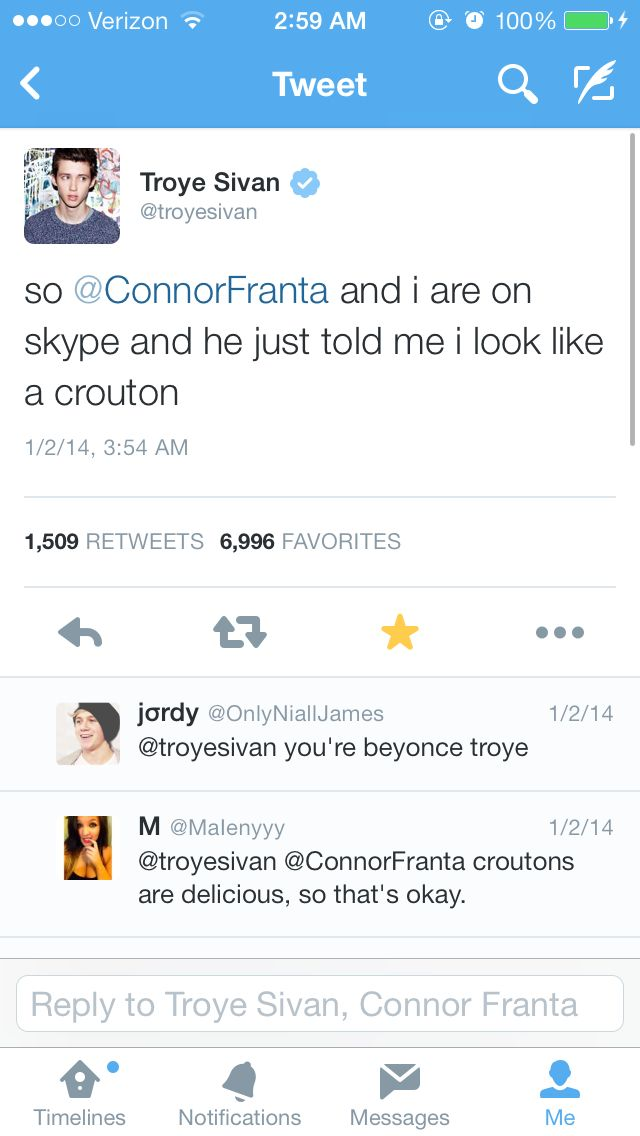 Hahahahaha I absolutely adore both Connor franta and troye sivan :) love them