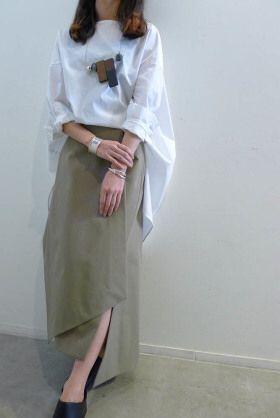 タグ付新品 ENFOLD 2016 新作 スカート 黒 38 エンフォルド 滝沢_画像1