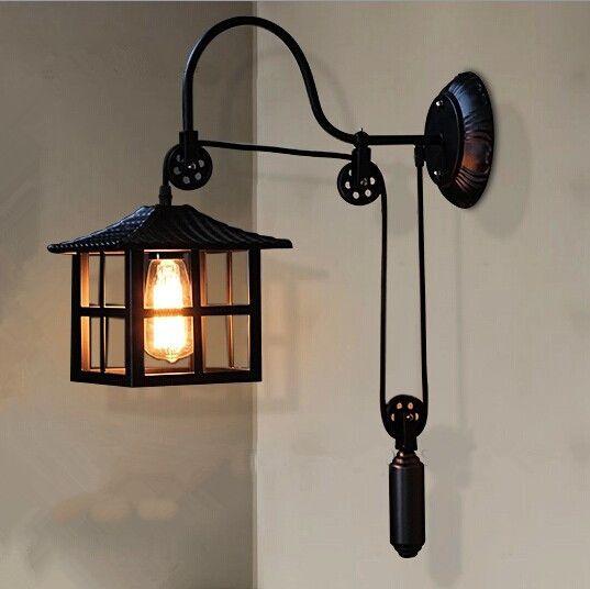 Pas cher vintage pendentif lumi re american style industriel lampes edison pl - Eclairage loft industriel ...