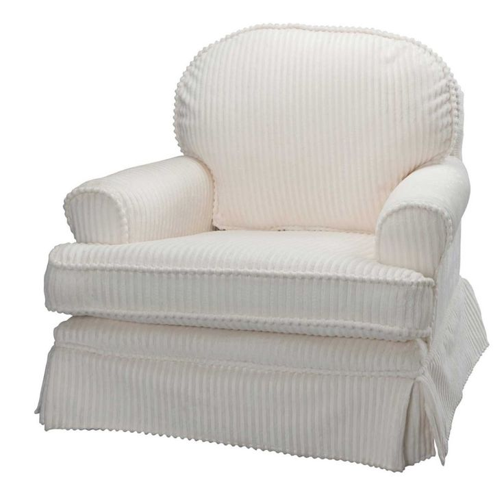 48% OFF And Free Shipping Harmony Ivory Chenille Nursery Glider Chair With  Swivels